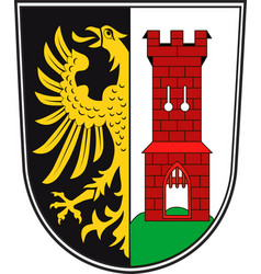 Coat of arms of kempten in swabia in bavaria vector