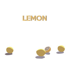 Collection lemons isolated on white background vector