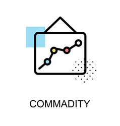 commadity icon with graph on white background vector image