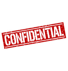 Confidential square grunge stamp vector
