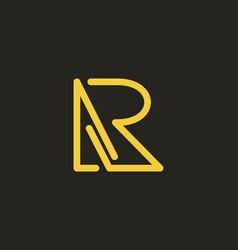 Creative modern monogram logo letter a b or a r vector