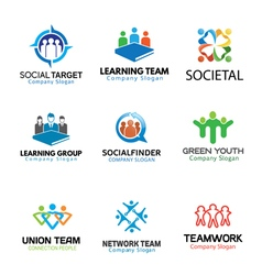 Crowds Team Business Design vector image
