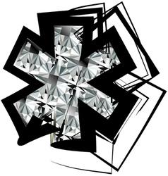 Diamond Font symbol vector