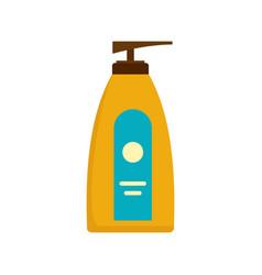 Dispenser lotion sun icon flat style vector