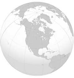 earth globe with focused on north america vector image