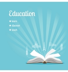 Education background with text vector