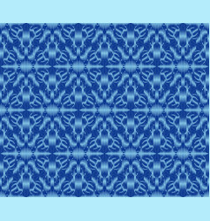 Ethnic patterned textile texture indigo dyed ikat vector