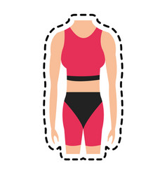 Fit body icon image vector