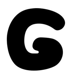 G capital silhouette vector