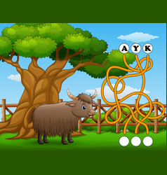 Game yak maze find way to the word vector