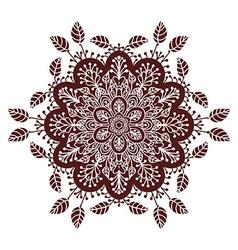 Hand drawing zentangle mandala element in marsala vector