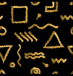 hand drawn seamless abstract pattern with gold vector image