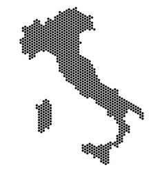 Hex-tile italy map vector