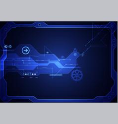 Hi-tech digital technology and engineering vector