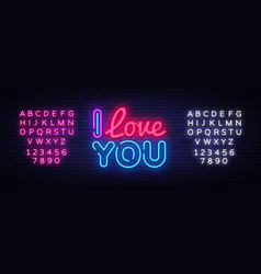 I love you neon sign love design template vector