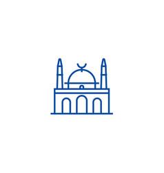 islam mosque line icon concept islam mosque flat vector image