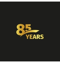 Isolated abstract golden 85th anniversary logo on vector image