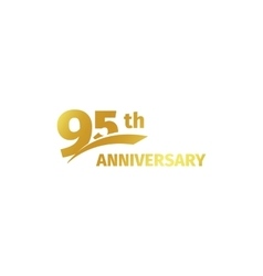 Isolated abstract golden 95th anniversary logo on vector
