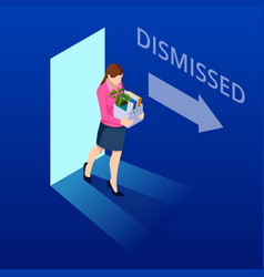 isometric dismissed frustrated business person vector image