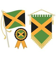 Jamaica flags vector