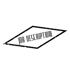 Job description rubber stamp vector