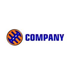 Letter alphabetic logo design template blue vector