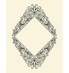 Line Vintage Frame vector image
