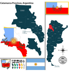 Map of catamarca province argentina vector
