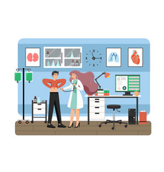 medicine concept flat style design vector image