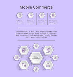 mobile commerce infographic vector image