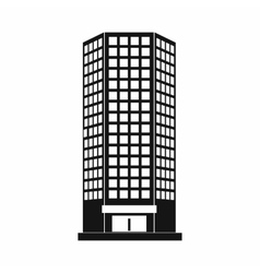 Modern office building icon simple style vector