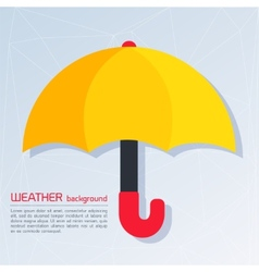 Modern weather background with umbrella vector image