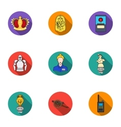 Museum set icons in flat style Big collection of vector image vector image