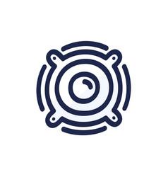 musical column musical speaker isolated on white vector image