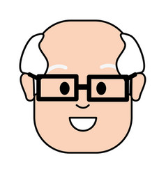 old face man with glasses vector image