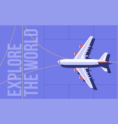 passenger airplane on runway vector image
