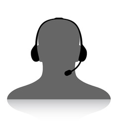 Phone support silhouette vector
