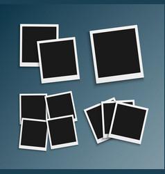 Photo frame realistic snapshot modern photo vector
