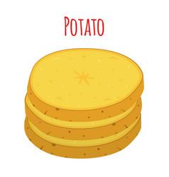 potato vegetable organic cartoon style vector image
