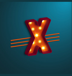 retro style letter x vector image