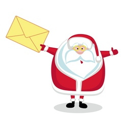 Santa with mail vector