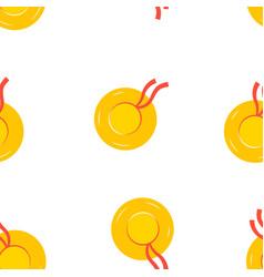 seamless pattern with beach hats vector image