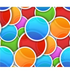 Seamless pattern with colorful circles vector image