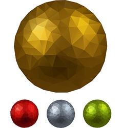 Set of textured realistic balls vector image