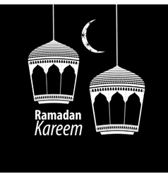 simple white Ramadan kareem vector image