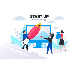 start up people concept project management and vector image