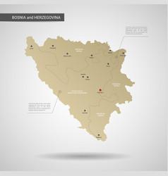 stylized bosnia and herzegovina map vector image