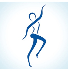 stylized yoga pose vector image