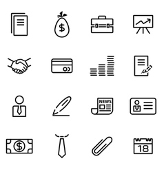 Thin line icons - business vector