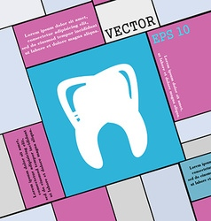 Tooth icon sign Modern flat style for your design vector image